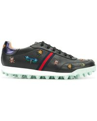 Gucci - Yell Low-top Embroidered Sneakers - Lyst