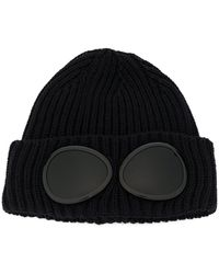 c35c37048 C P Company Cotton Goggle Beanie - Olive in Green for Men - Lyst