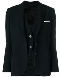 Neil Barrett - Waistcoat Layer Blazer - Lyst