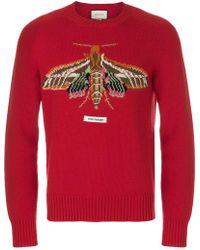 Gucci - Garden Moth Intarsia Sweater - Lyst