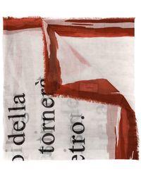 Faliero Sarti - Oversized Slogan Print Scarf - Lyst