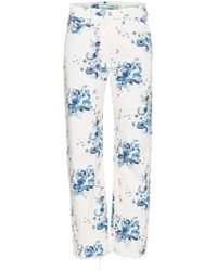 Off-White c/o Virgil Abloh - X Browns Floral Print Straight Denim Jeans - Lyst