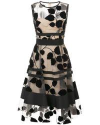 Carolina Herrera - Vestido con bordado de hojas - Lyst