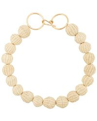 Carolina Herrera - Raffia Beads Necklace - Lyst
