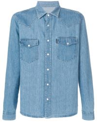 a36eddad6b3 Lyst - AMI Chambray Cotton-Denim Shirt in Blue for Men