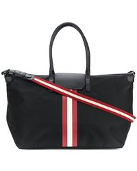 Bally - Stripe Detail Overnight Bag - Lyst