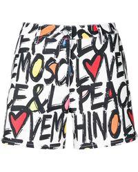 Love Moschino | Logo Print Shorts | Lyst