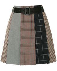Guild Prime - Checked Asymmetric Skirt - Lyst