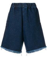 Marques'Almeida - Frayed Edges Denim Shorts - Lyst