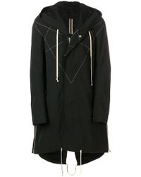 Rick Owens Drkshdw - Oversized Hooded Coat - Lyst