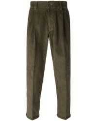 PT01 - Corduroy Cropped Trousers - Lyst