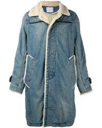 Sacai - Denim Coat - Lyst