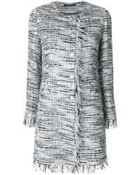 Tagliatore - Fitted Tweed Coat - Lyst