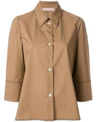 Marni - Boxy Cropped Sleeve Shirt - Lyst