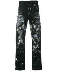 Off-White c/o Virgil Abloh - Jeans mit Farbklecks-Print - Lyst