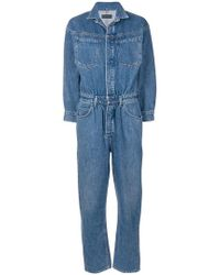 Citizens of Humanity - Longsleeved Belted Jumpsuit - Lyst