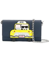 Karl Lagerfeld - Nyc Taxi Chain Wallet - Lyst