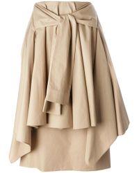 AALTO - Tie Front Skirt - Lyst