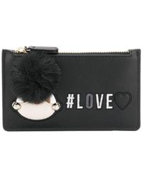 Love Moschino - Love Embroidered Pom Pom Wallet - Lyst