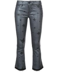 RTA - Cropped Flared Star Trousers - Lyst