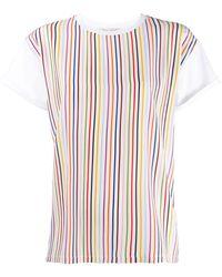 Être Cécile T-Shirt mit Regenbogenstreifen