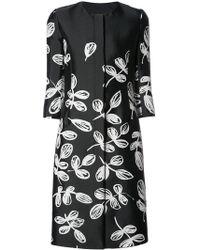 Oscar de la Renta | Three-quarter Sleeves Floral Coat | Lyst
