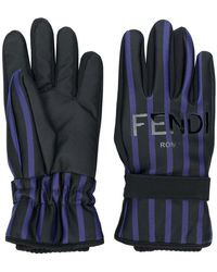 Fendi - Striped Gloves - Lyst