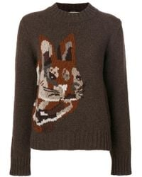 Mulberry - Bunny Intarsia Jumper - Lyst