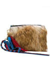 Sacai - Faux Fur Clutch - Lyst