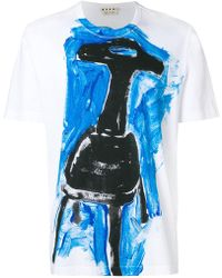 Marni - Printed Crew Neck T-shirt - Lyst