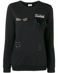 Liu Jo - Embellished Patch Sweatshirt - Lyst