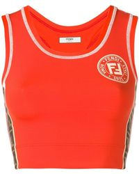 5f9c0360c780c Lyst - Women s Fendi Sleeveless and tank tops On Sale
