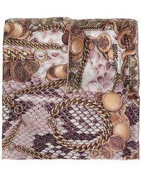 Roberto Cavalli - Chain Print Scarf - Lyst