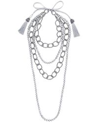 Night Market | Faux Pearl And Bead Layered Necklace | Lyst