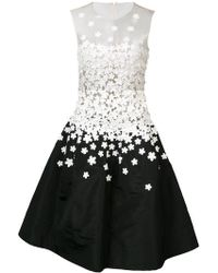 Oscar de la Renta | Sleeveless Illusion Jewel Neck Embellished Dress | Lyst
