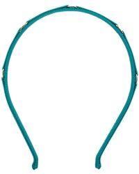 Ferragamo - Ribbed Woven Headband - Lyst