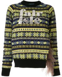 Kolor Logo Print Knit Sweater
