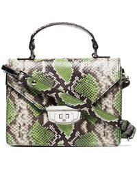 Ganni - Green Gallery Top Handle Leather Bag - Lyst