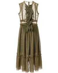 Ainea - Sleeveless Ruffle Dress - Lyst