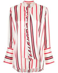Maggie Marilyn - Striped Pussybow Shirt - Lyst