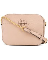 36d92056854b Lyst - Tory Burch Mcgraw Embossed Round Cross-body in Blue