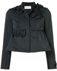 RED Valentino - Bow Appliqués Cropped Jacket - Lyst
