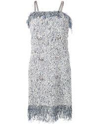 ed941e05 Balmain Tweed Dress in Blue - Lyst