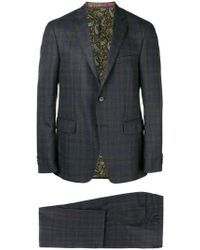 Etro - Checked Two-piece Suit - Lyst