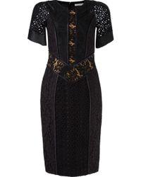 Martha Medeiros - Lace Patchwork Dress - Lyst