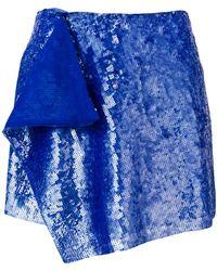 Alberta Ferretti - Layered Sequined Mini Skirt - Lyst