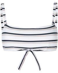 Beautiful Bottoms - Striped Bikini Top - Lyst