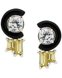 V Jewellery - Marion Stud Earrings - Lyst