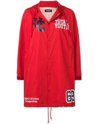 Undercover Printed Hooded Raincoat