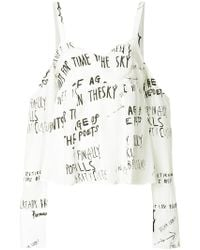 Each x Other - Off-the-shoulder Handwritting Blouse - Lyst